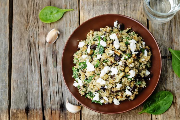 Salade quinoa brebis