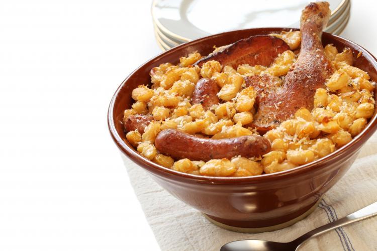 Cassoulet à la créole, veau agneau poulet