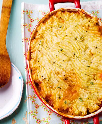 Parmentier de colin et patates douces