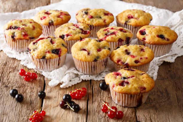 Muffins à la confiture de fruits rouges