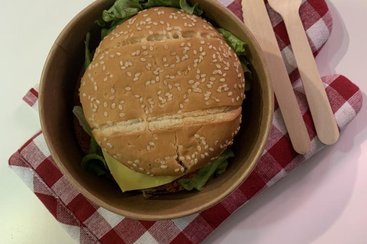 Burger façon vegan