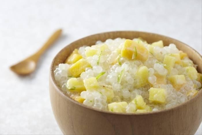 Perles de japon au lait de coco et aux fruits exotiques