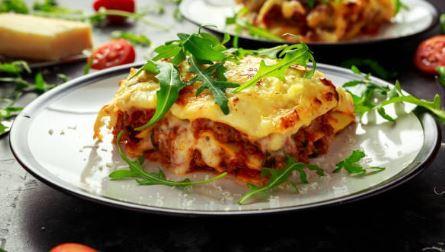Lasagnes à la bolognaise (gluten, lactose))