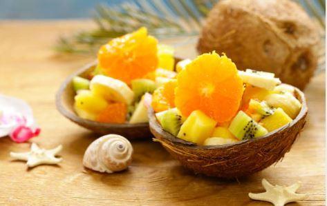 Salade de fruits exotiques à la citronnelle