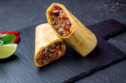 Burrito au bœuf haché