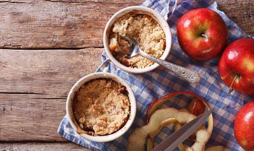Crumble pomme-poire (gluten, lactose)