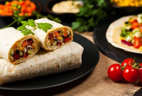 Burrito brebis guacamole