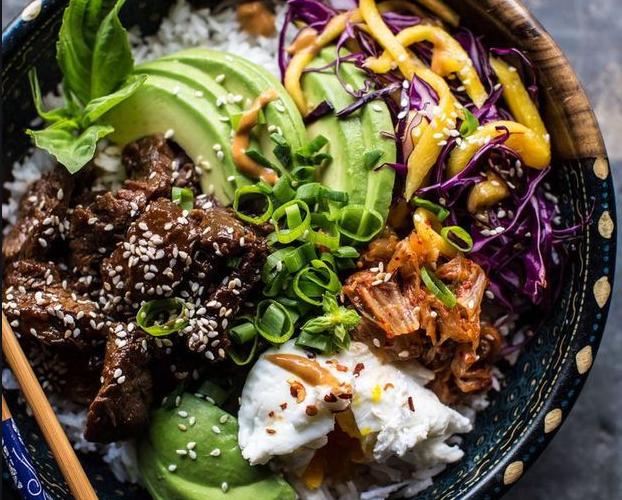Poke bowl asiatique au bœuf