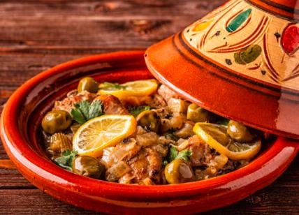 Tajine au poulet, olives et citron confit