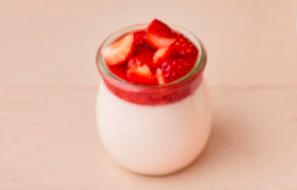 Panna Cotta coulis de fraise