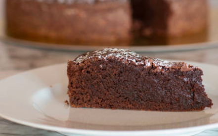 Croustillant au chocolat et sa crème anglaise