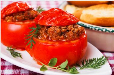 Tomates farcies au thym vert