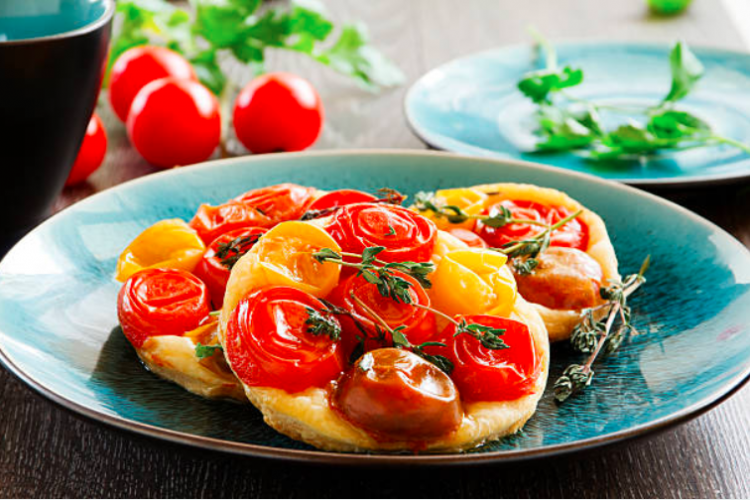 Tartelette à la tomate balsamique
