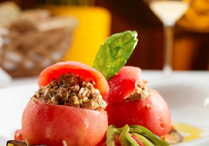 Tomate farcie au bœuf