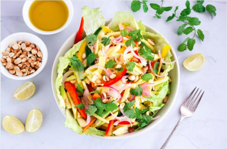 Salade thaï poulet citron vert