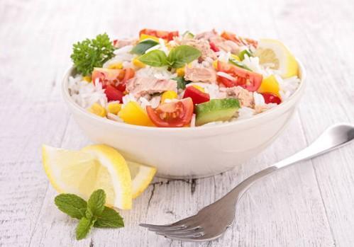 Salade de riz thon haricots verts