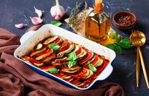 Tian provençal et polenta moelleuse