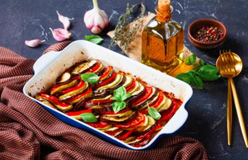 Tian de légumes, polenta moelleuse et ricotta