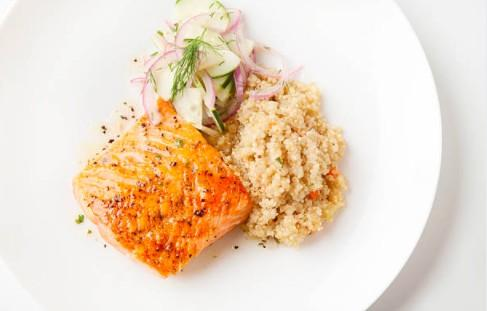 Quinoa saumon-fenouil aux herbes fraîches