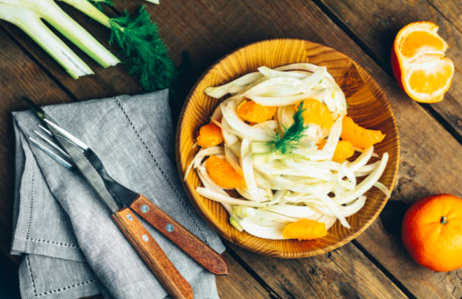 Salade de fenouil orange et sésame