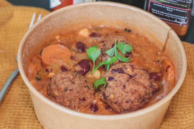 Poêlée de légumes et seitan au paprika