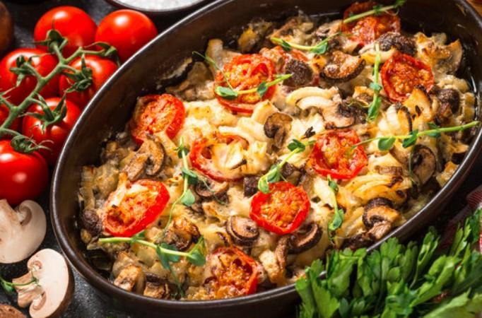 Gratin de veau aux champignons