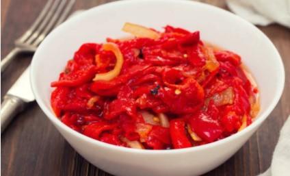 Salade de poivrons parfumée
