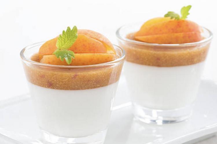 Panna cotta dattes abricots secs