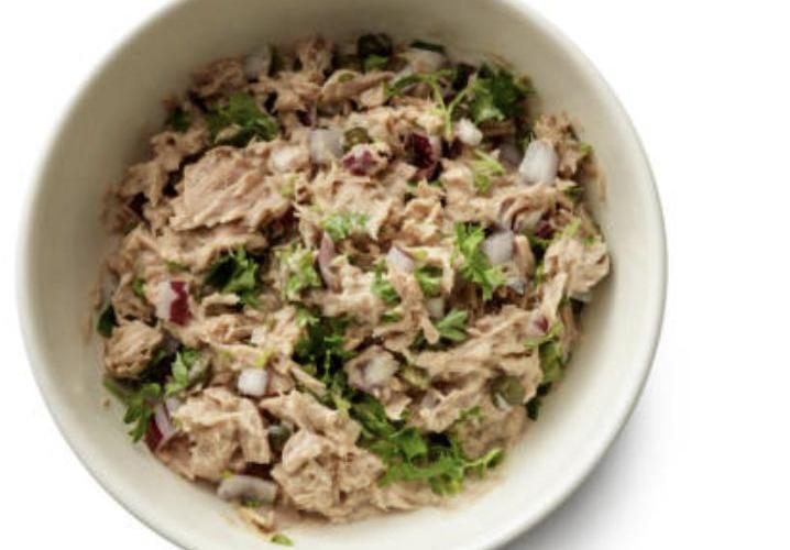 Salade moutardée thon pommes de terre
