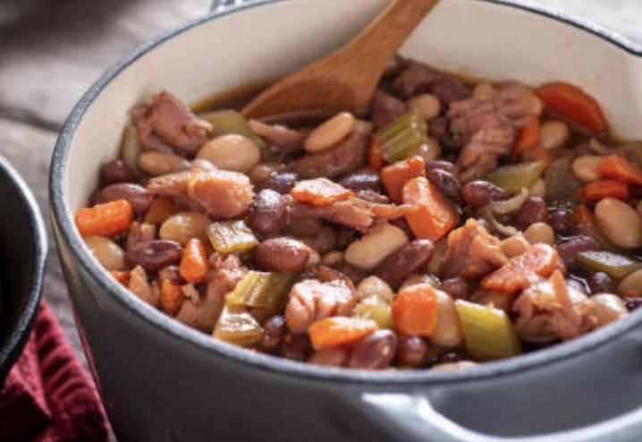 Mijotée de bœuf aux haricots chowllis