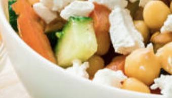 Salade de pois chiches, lentilles et feta
