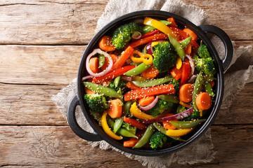 Poêlée de légumes sésame et mil cassé