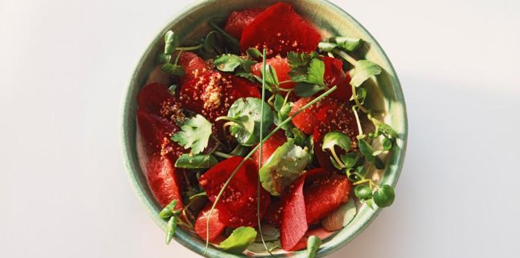 Salade gourmande au pamplemousse