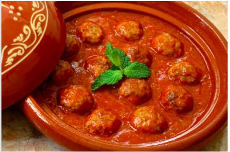Tajine de kefta en sauce tomate