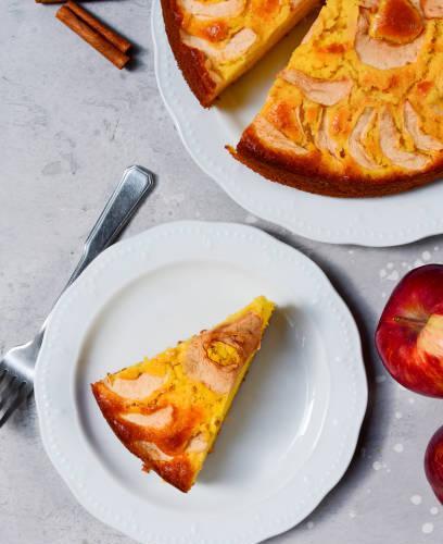 Clafouti crémeux aux pommes