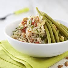 Salade haricots verts quinoa mozzarella