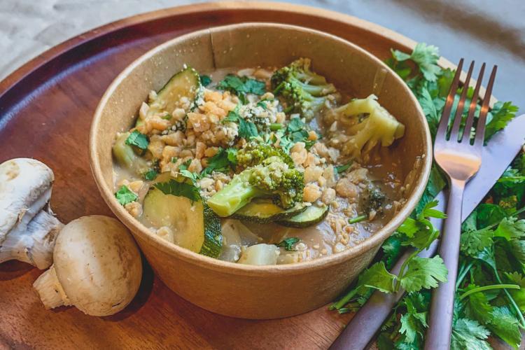 Wok aux légumes sésame et gingembre