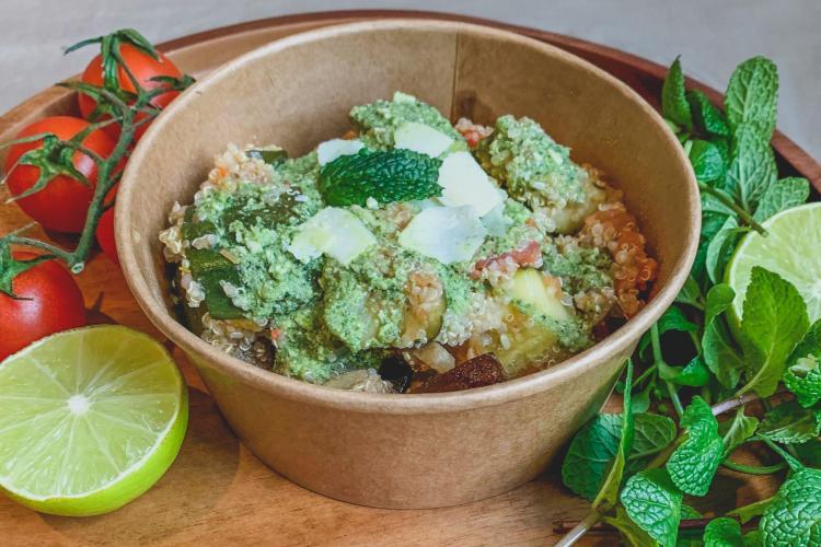 Pesto de courgettes au quinoa