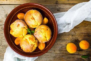 Muffin à la confiture d'abricots