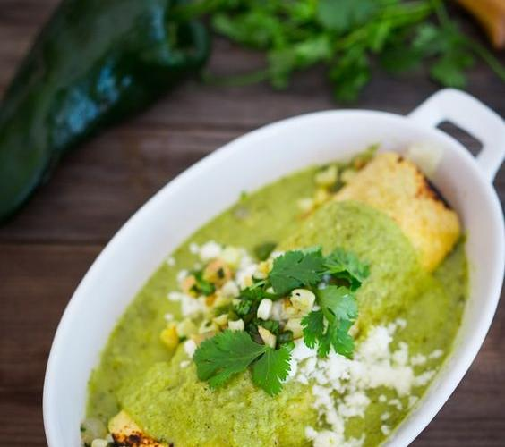 Enchiladas vertes au bœuf