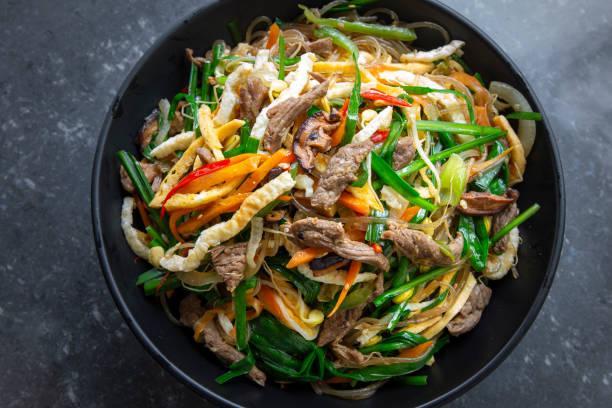 Bœuf et vermicelles sautés à la coréenne