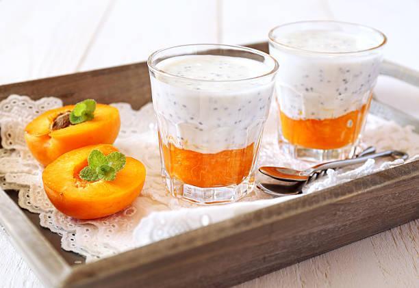 Chia pudding amande abricot sec