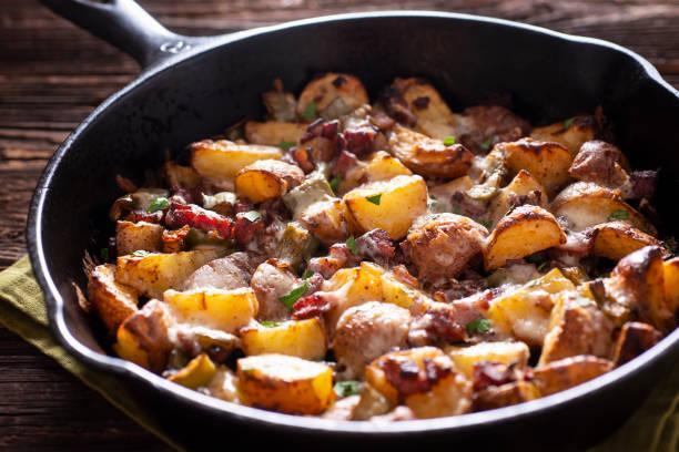 Sauté de porc chipotle, champignons et pommes persillées