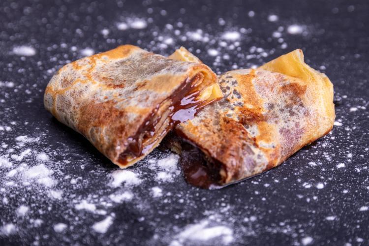 Crêpes au chocolat et gingembre confit