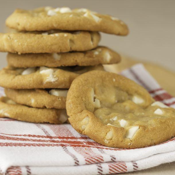 Cookie au chocolat blanc et noix de pecan (gluten, lactose, œuf, fruit à coque)