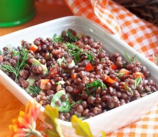 Salade de lentilles vertes à l'indienne