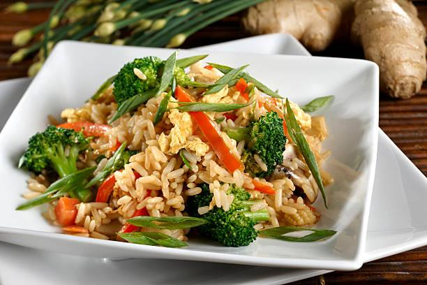 Riz sauté curry brocolis