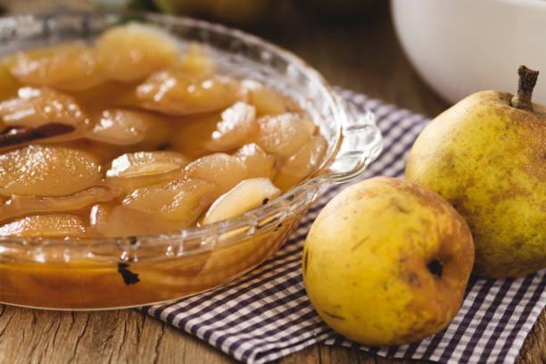 Compotée pommes poires aux fèves de tonka