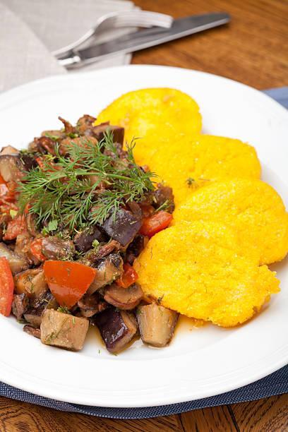 Ratatouille et polenta crémeuse
