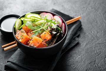 Poke bowl saumon mariné